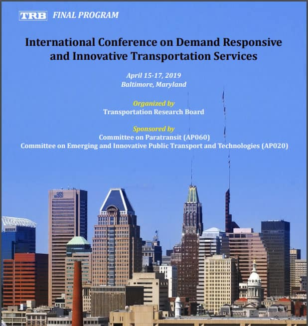 TRB's International Conference on Demand Responsive and Innovative Transportation Services